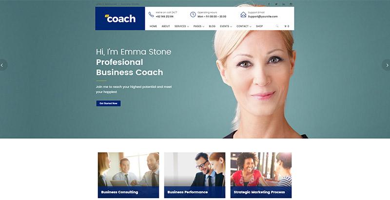 meilleurs thèmes WordPress business-coach