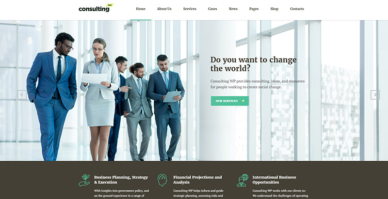 Consulting themes wordpress creer site internet entreprise assurance agence