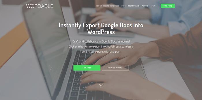 Export google docs wordpress pages posts blogpascher