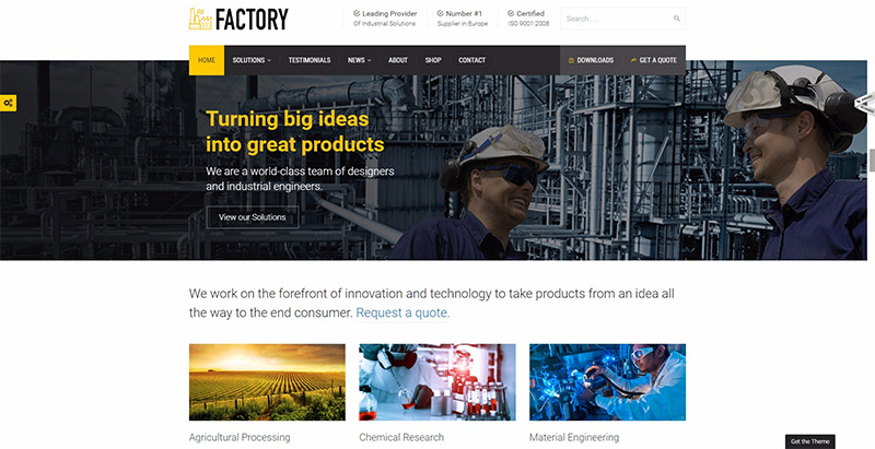 factory-10-themes-wordpress-creer-site-web-entreprise-industrielle