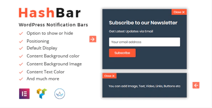 Hashbar pro wordpress notification bar plugin wordpress 2