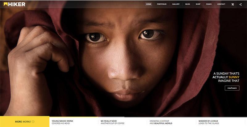 hiker-themes-wordpress-creer-site-web-photographe-agence-portfolio-architecte