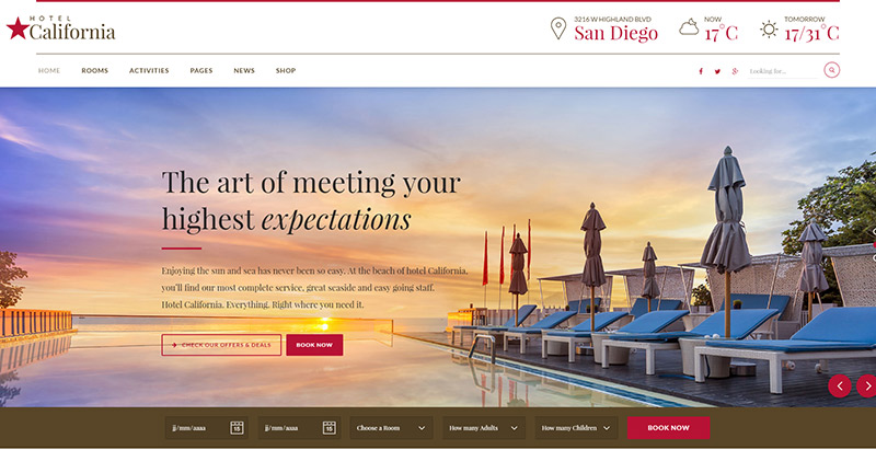 hotel-californial-themes-wordpress-creer-site-internet-hotel-motel