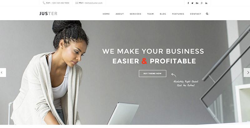 juster-10-themes-wordpress-creer-site-web-agence-marketing