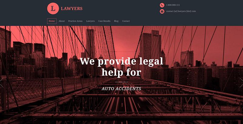 юристы-тема-WordPress создать сайт-интернет-фирма адвокатов-юрист-адвокат судья