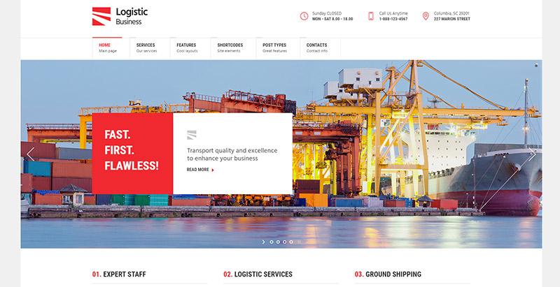 logistic-business-themes-wordpress-creer-site-internet-entreprise-logistique-transport