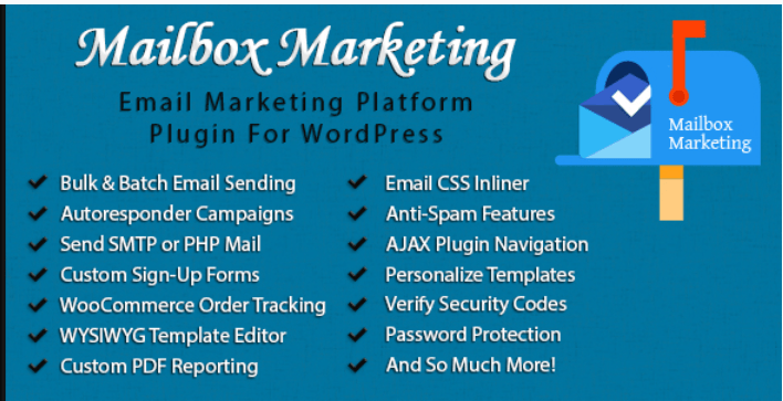 Mailbox marketing email newsletter marketing plugin for wordpress