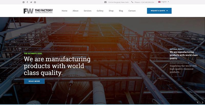 manufaktur-10-tema-wordpress-membuat-web-site--usaha industri