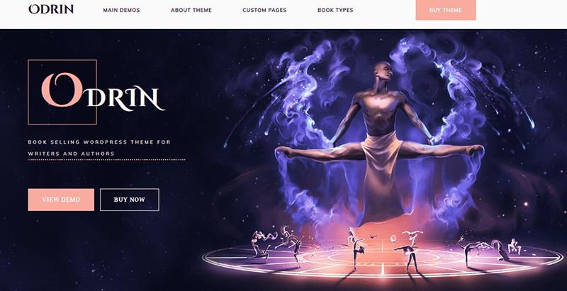 Odrin Themes Wordpress Creer Site Internet Vente Ebooks Librairie Bibliotheque Auteur Maison Edition