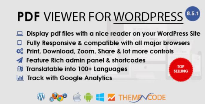 PDF viewer for WordPress plugin