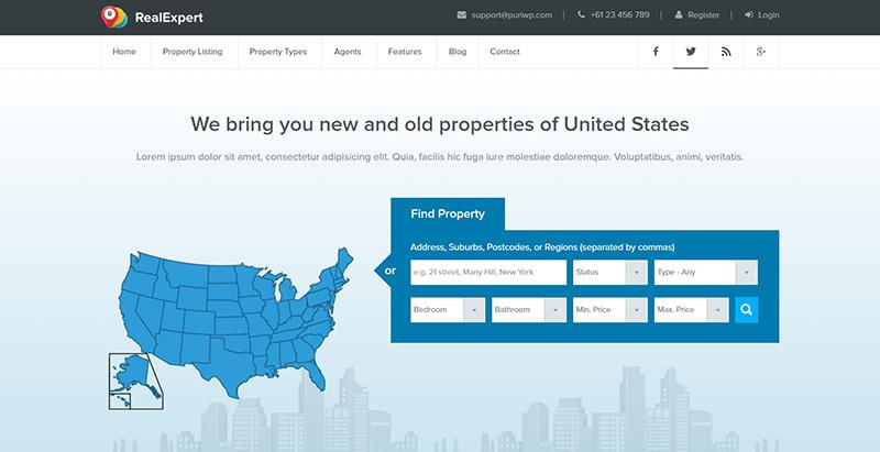 real-expert-themes-wordpress-creer-site-web-louer-vendre-maisons-villa-appartement