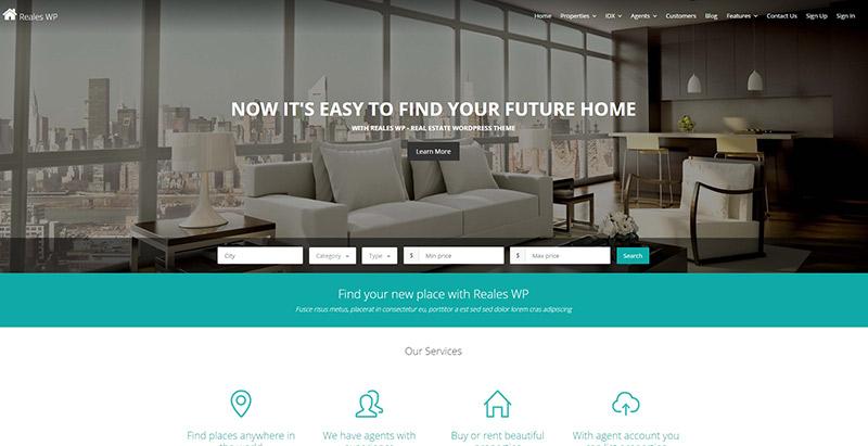 reales-wp-themes-wordpress-creer-site-web-louer-vendre-maisons-villa-appartement
