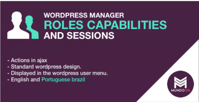 Roles capabilities and sessions manager plugin wordpress