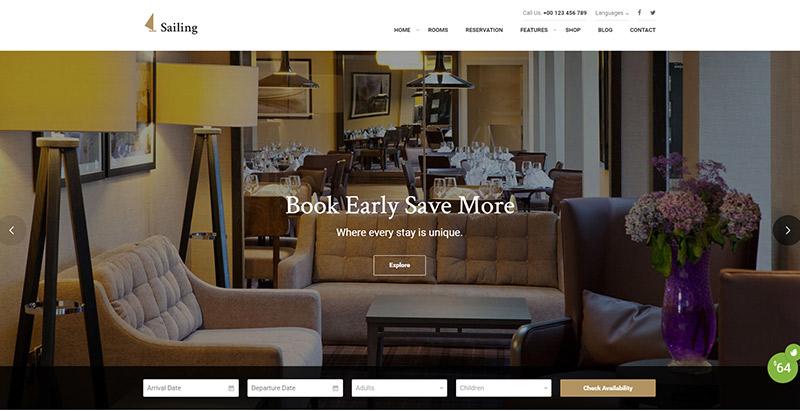 sailingl-themes-wordpress-creer-site-internet-hotel-motel