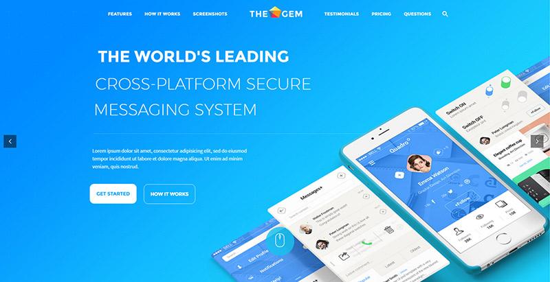 Thegem themes wordpress creer site web applications mobiles