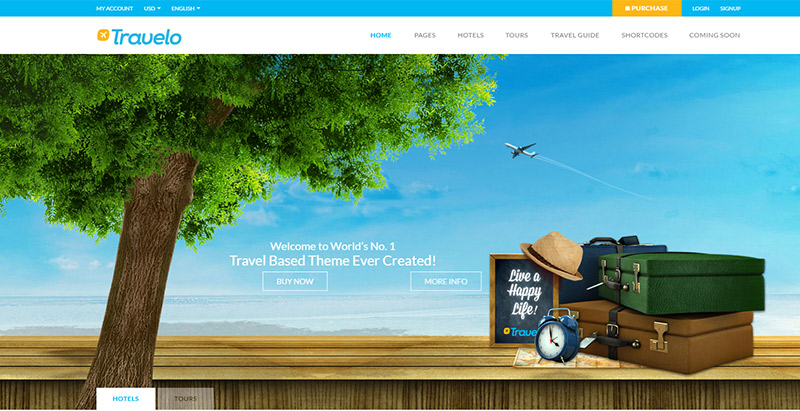 Travelo Themes Wordpress Creer Site Web Tour Operateur Agence Voyages