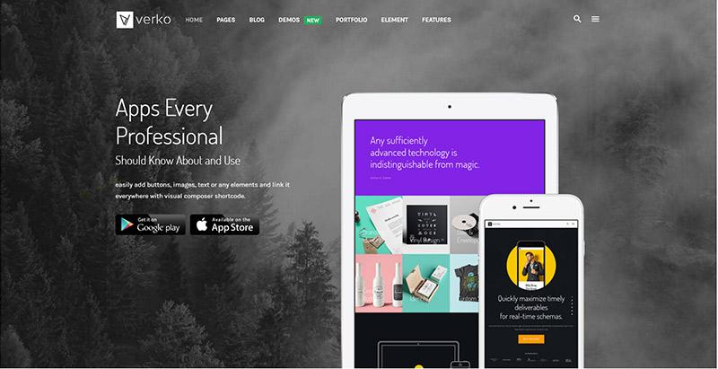verko-10-temas-wordpress-criar-web-site-agência de marketing