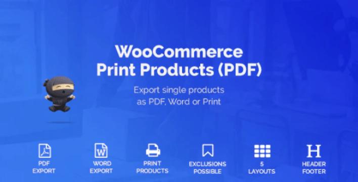Woocommerce print products pdf plugin wordpress