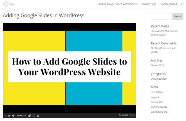add-google-slide-on-wordpress