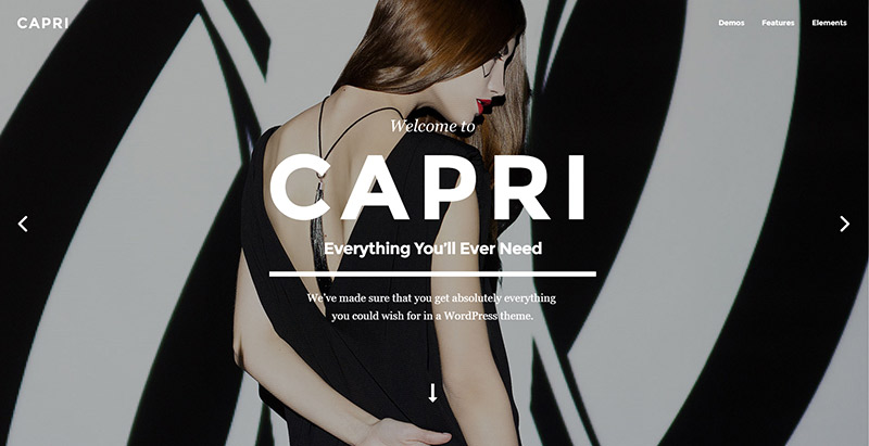 Capri themes wordpress polyvalents creer site internet