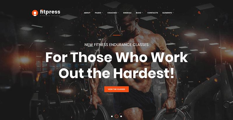 meilleurs thèmes WordPress de club de fitness - Fitpress1