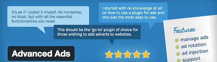 Advanced ads plugin wordpress