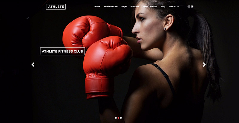 Athlete themes wordpress creer site web club sports fitness gymnase