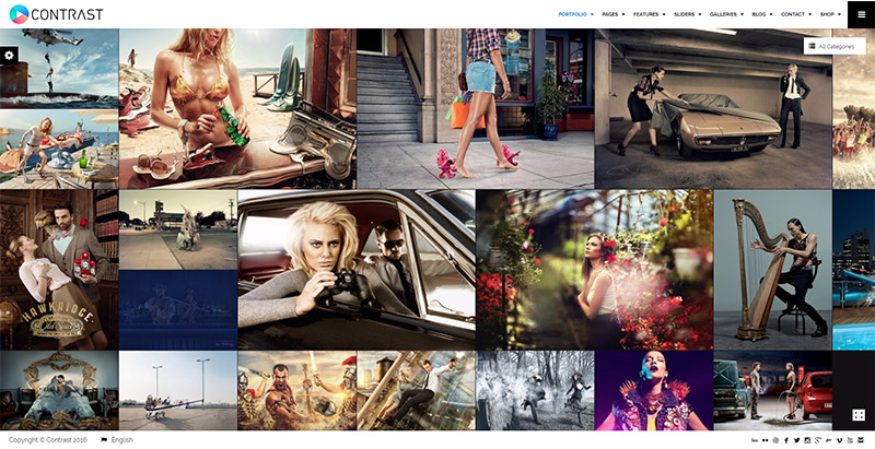 Contrast themes wordpress site web photographe artiste