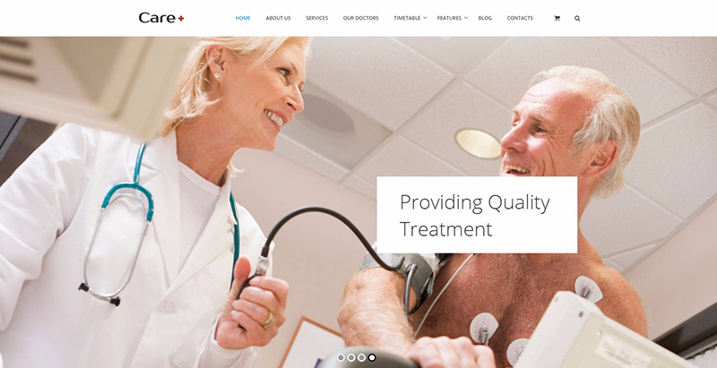 Carethemes wordpress creer site web medical clinique