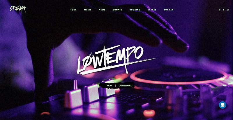 Croma themes wordpress creer site web artiste musicien