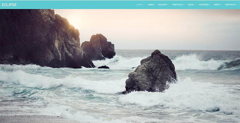 Eclipse themes wordpress creer site web photographie photographe illustrateur