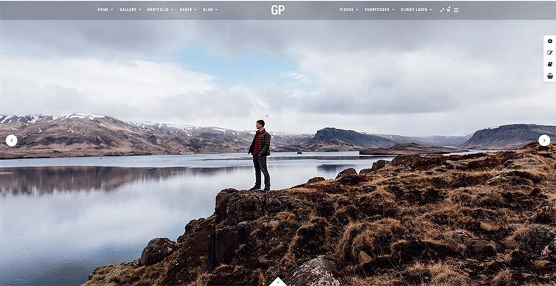 Grand photography themes wordpress creer site web photographie photographe illustrateur