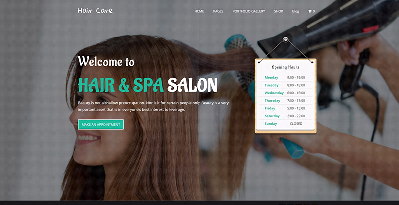 Hair Care Themes Wordpress Creer Site Web Spa