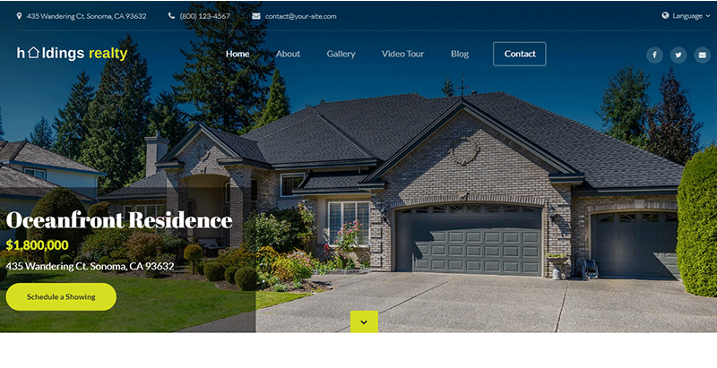 Holdings realty single property theme wordpress