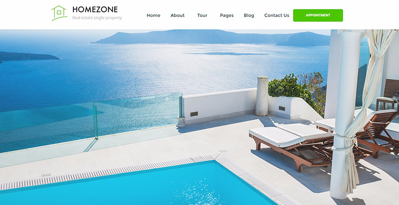 Homezone themes wordpress creer site web vente maisons