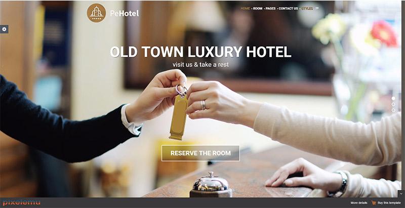 Hotel leisure themes wordpress creer site web hotel motel