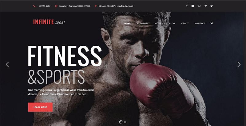 Infinite themes wordpress creer site web club sports fitness gymnase