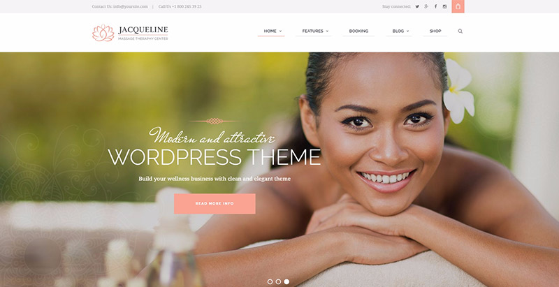 Jacqueline themes wordpress creer site web spa