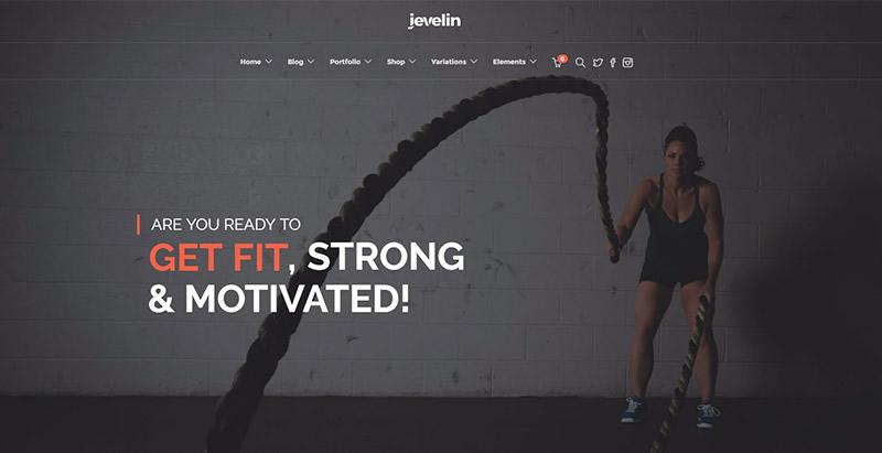 Jevelin themes wordpress creer site web club sports fitness gymnase