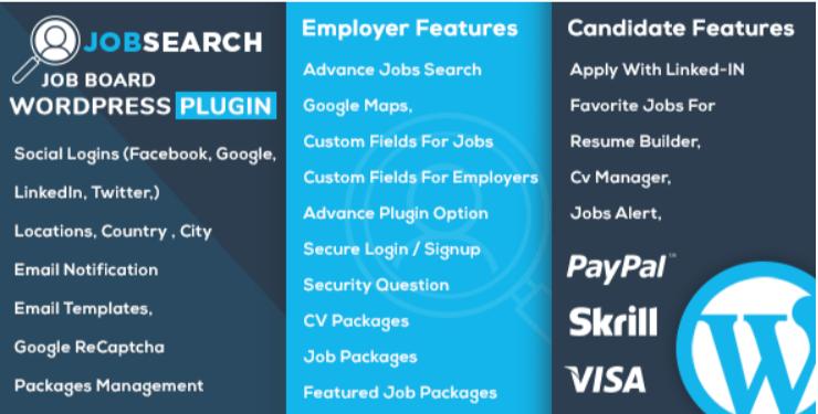créer un site web d'offres d'emploi - Jobsearch wp job board wordpress plugin