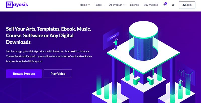 Mayosis - vendre des produits numériques