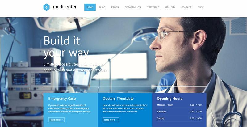 Medicenterthemes wordpress creer site web medical clinique