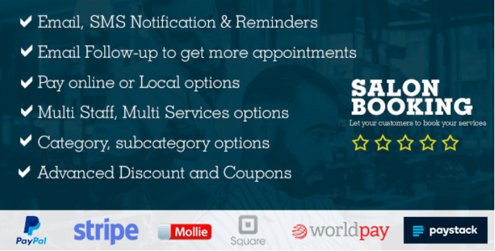 Salon booking wordpress plugin