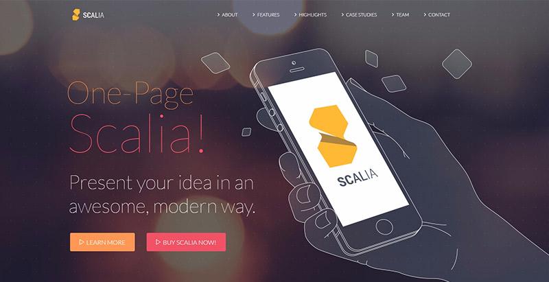 Scalia 10 Themes Wordpress Flat Design Creer Site Web Plat Design
