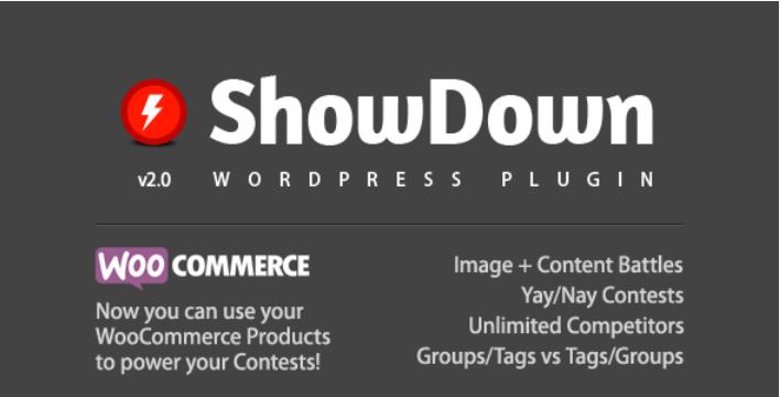 Showdown wordpress plugin