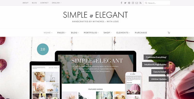 Simple elegant themes wordpress optimises referencement seo
