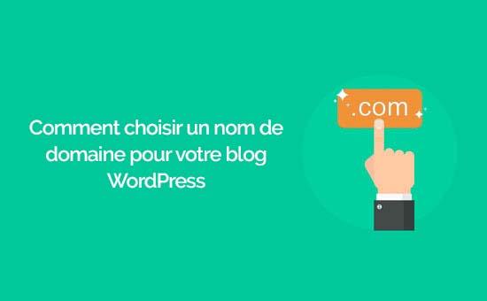 Choisir un nom de domaine sur wordpress