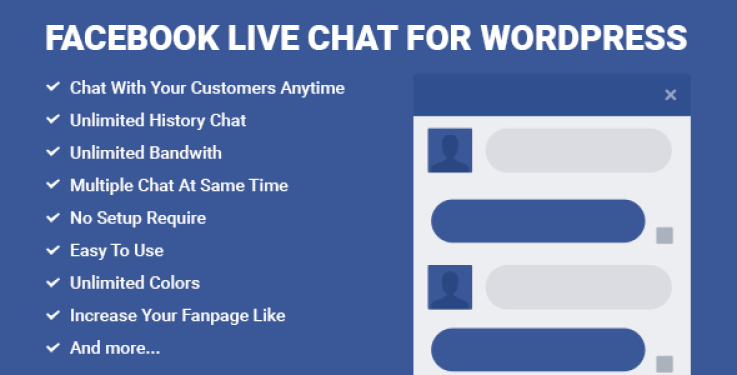 Facebook live chat plugin wordpress pour live chat