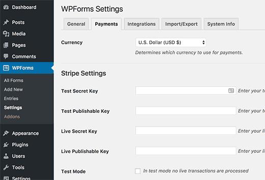Bagaimana untuk menerima pembayaran dengan Stripe di Wordpress