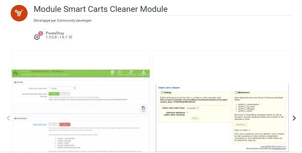 Smart carts cleaner module plugin prestashop pour nettoyage bd